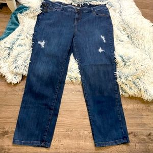 d/C Jeans straight leg distressed jeans petite